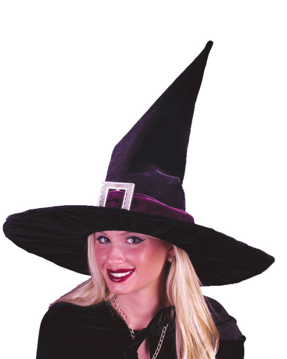 Witch Hat Pleated Velour