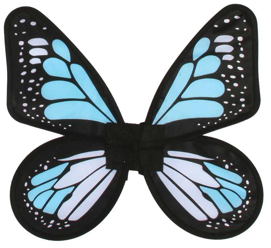 Morris Wings Butterfly Satin Ad Blue/ - MaxWigs