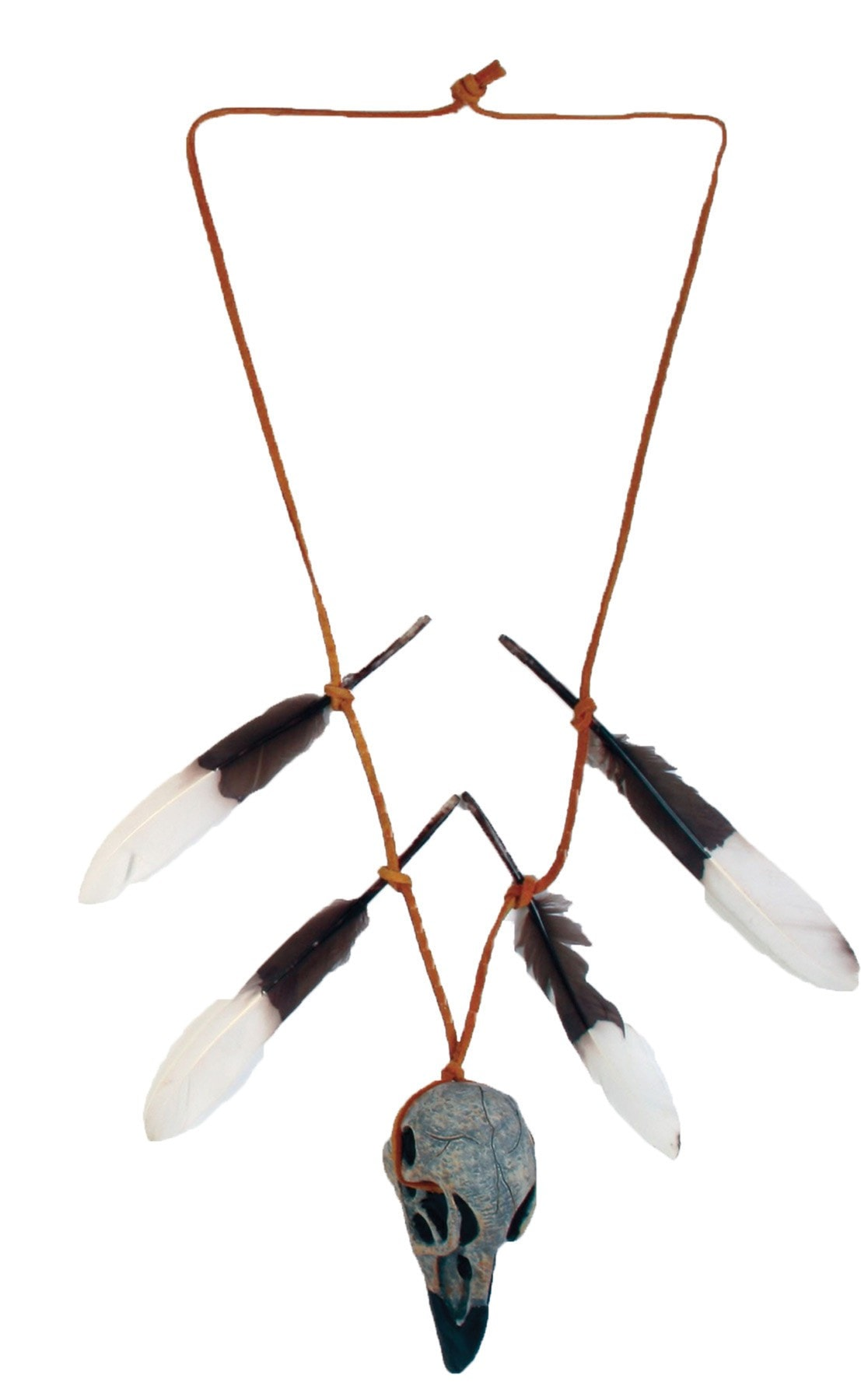 Morris Native Warrior Arrowhead or Skull Necklace - MaxWigs