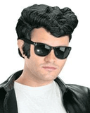 Morris Greaser Wig Black - MaxWigs