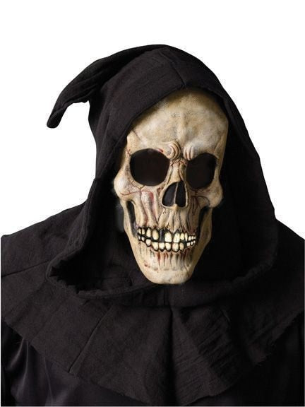 Morris Shroud Skull Mask Open Mouth - MaxWigs