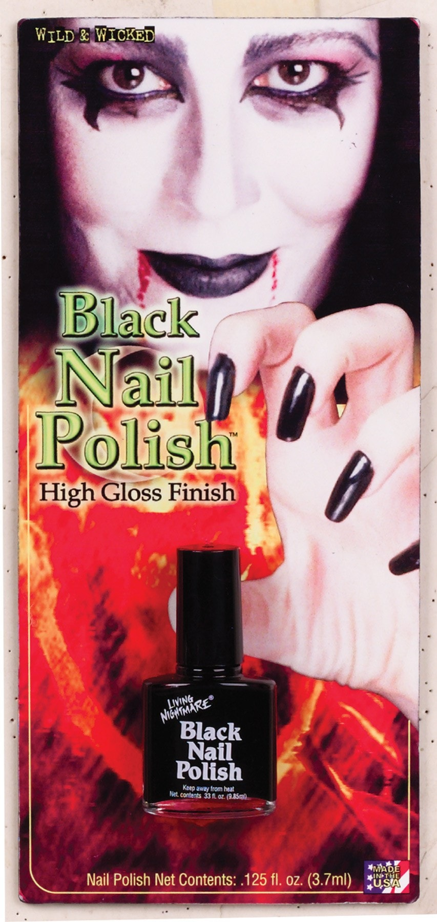 Morris Nail Polish Black - MaxWigs