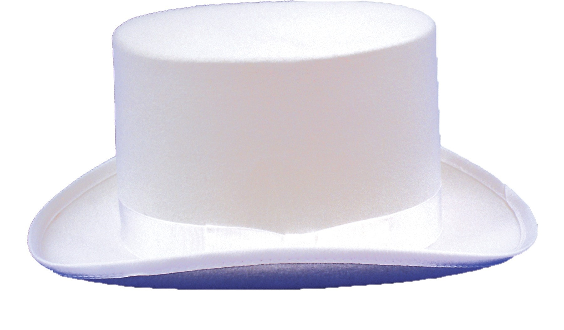 Morris Top Hat Felt White Large - MaxWigs