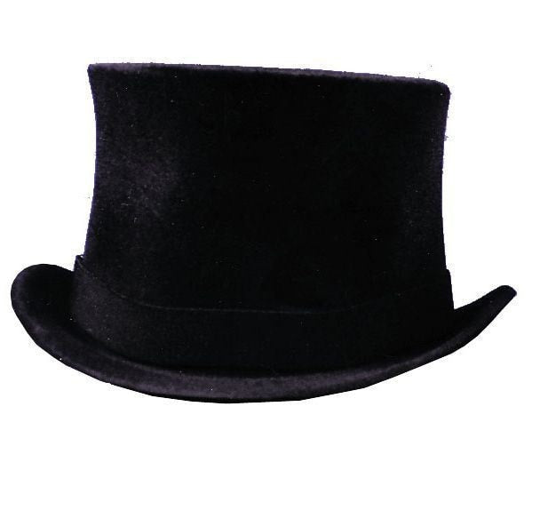 Morris Prince Charles Top Hat Blk - MaxWigs