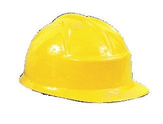 Morris Construction Helmet Plastic - MaxWigs