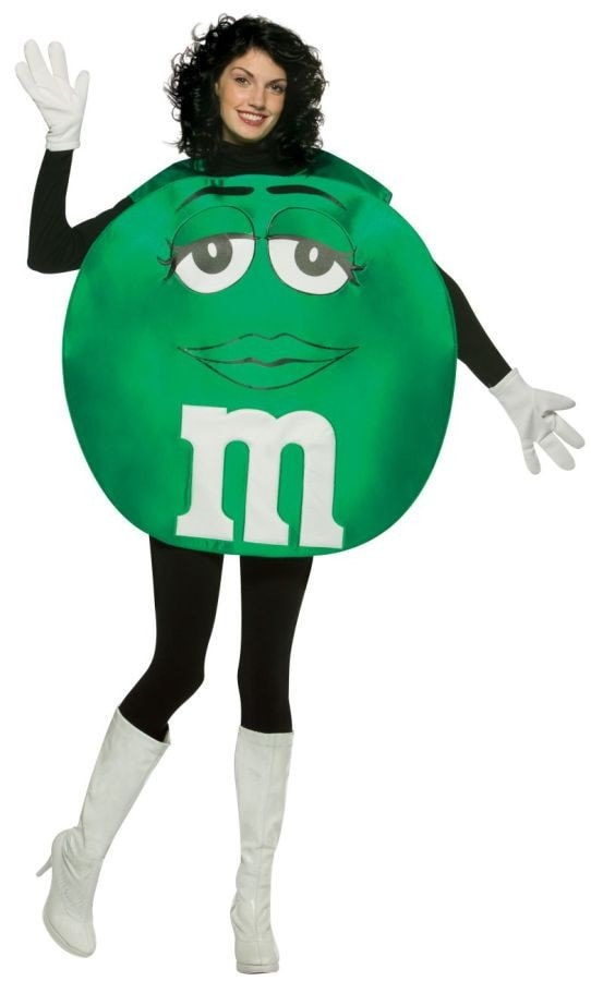 Morris M&m's Green Poncho Adult - MaxWigs