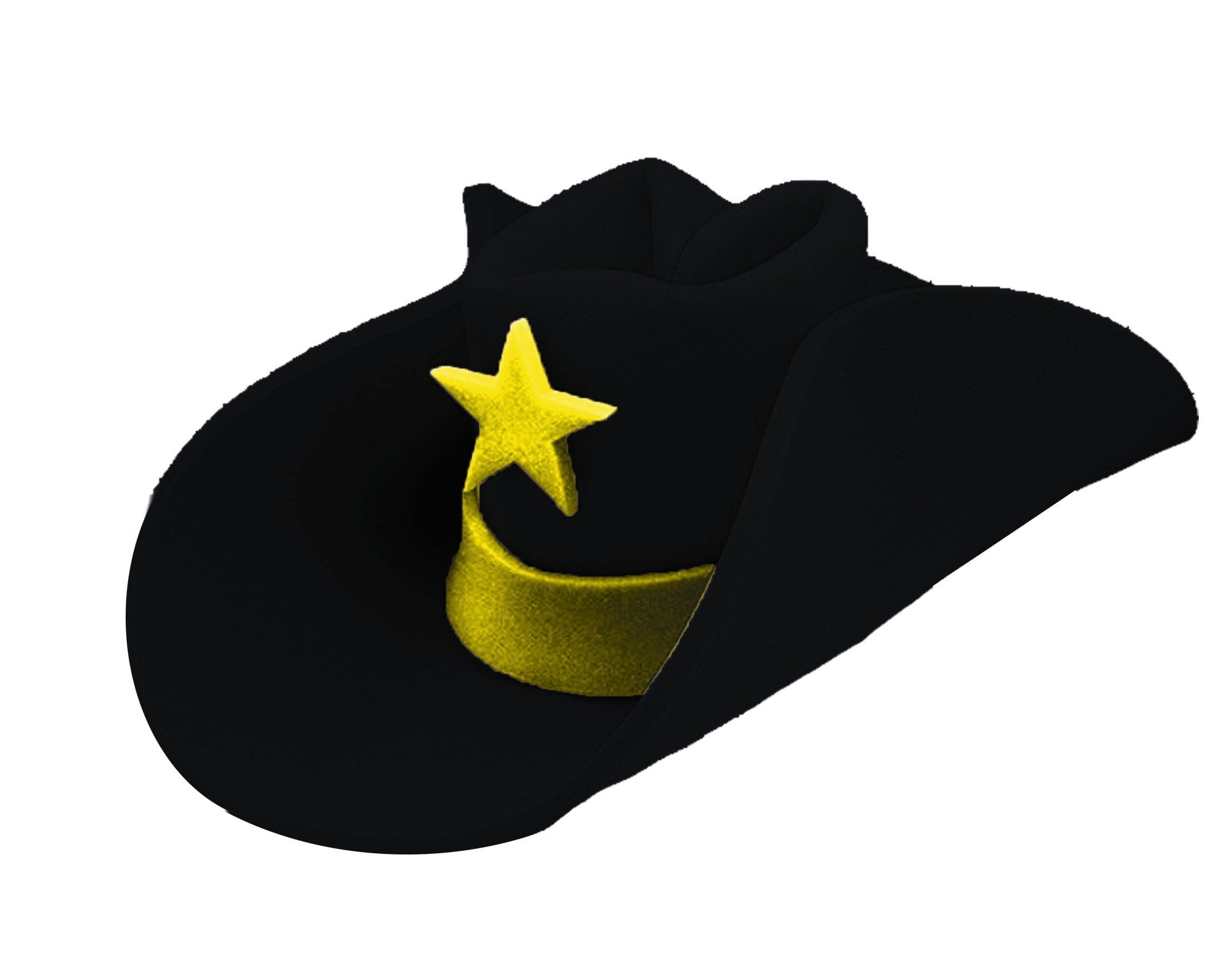 Morris 40 Gallon Hat Black - MaxWigs