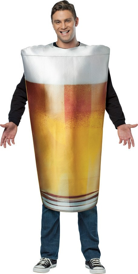Morris Get Real Beer Pint Adult - MaxWigs