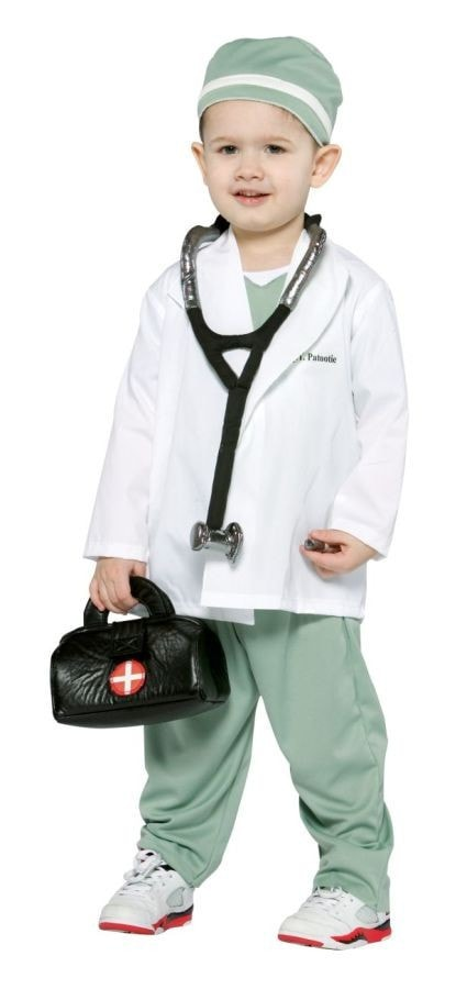 Morris Future Doctor Toddler 3 To 4 - MaxWigs