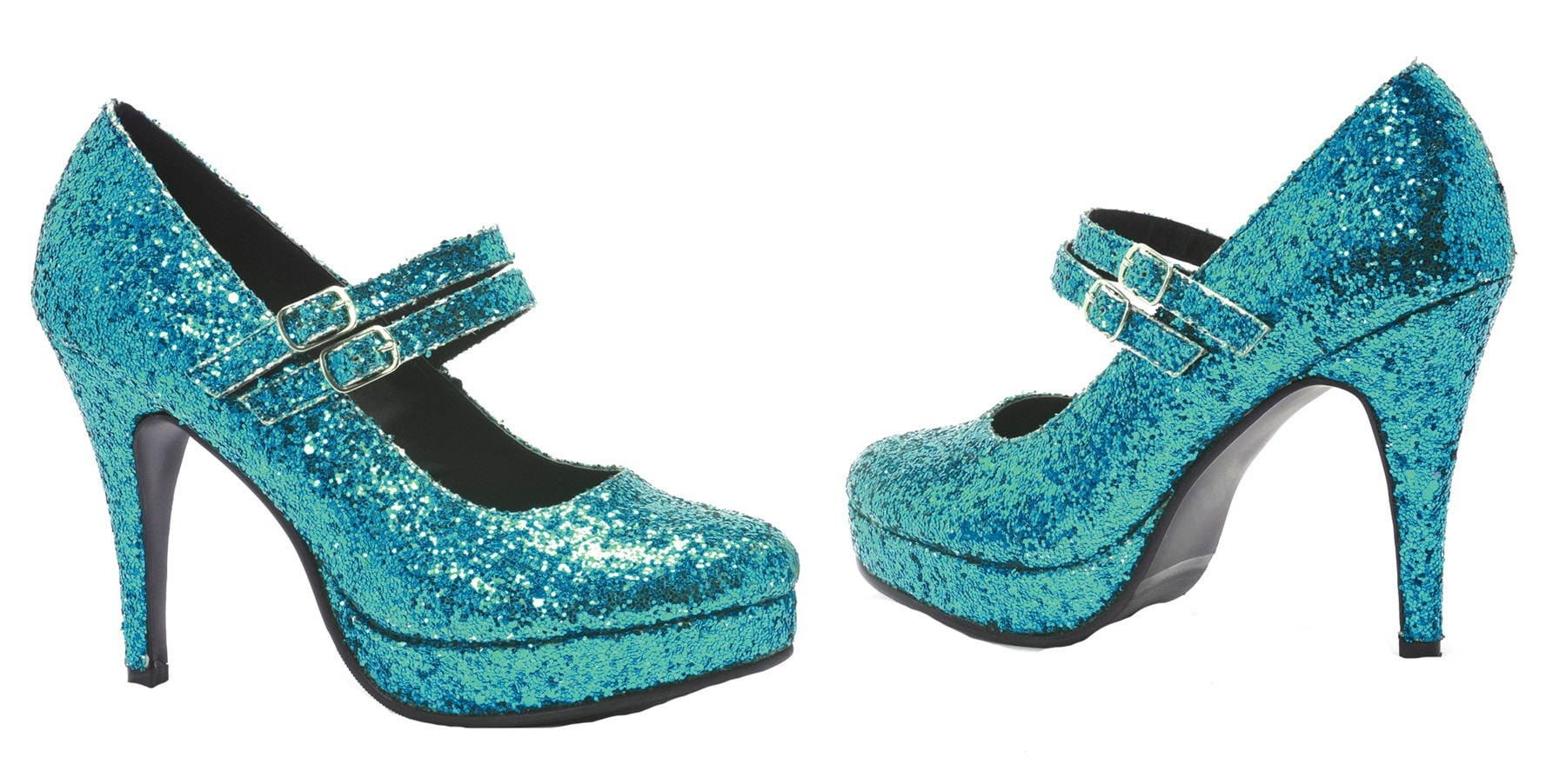 Morris Shoe Alice Blue Glitter Size 7 - MaxWigs