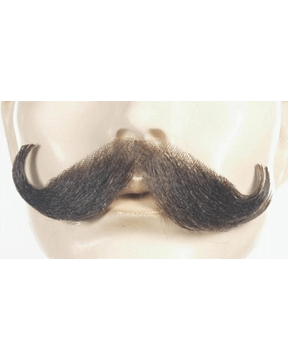 Lacey Costume Handlebar Synthetic/Human Blend Handmade Mustache - MaxWigs