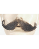 Lacey Costume Handlebar Synthetic/Human Blend Handmade Mustache CLEARANCE - MaxWigs