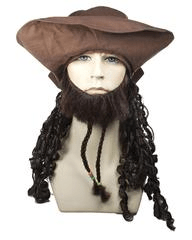 Lacey Costume Buccaneer Johnny with Hat - MaxWigs