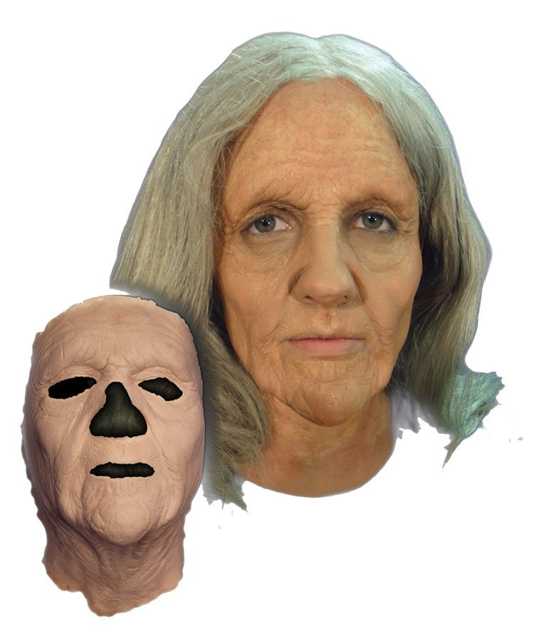 Morris Old Woman Foam Latex Face - MaxWigs