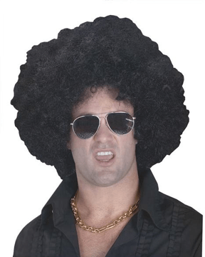 Morris High Afro Black Wig - MaxWigs