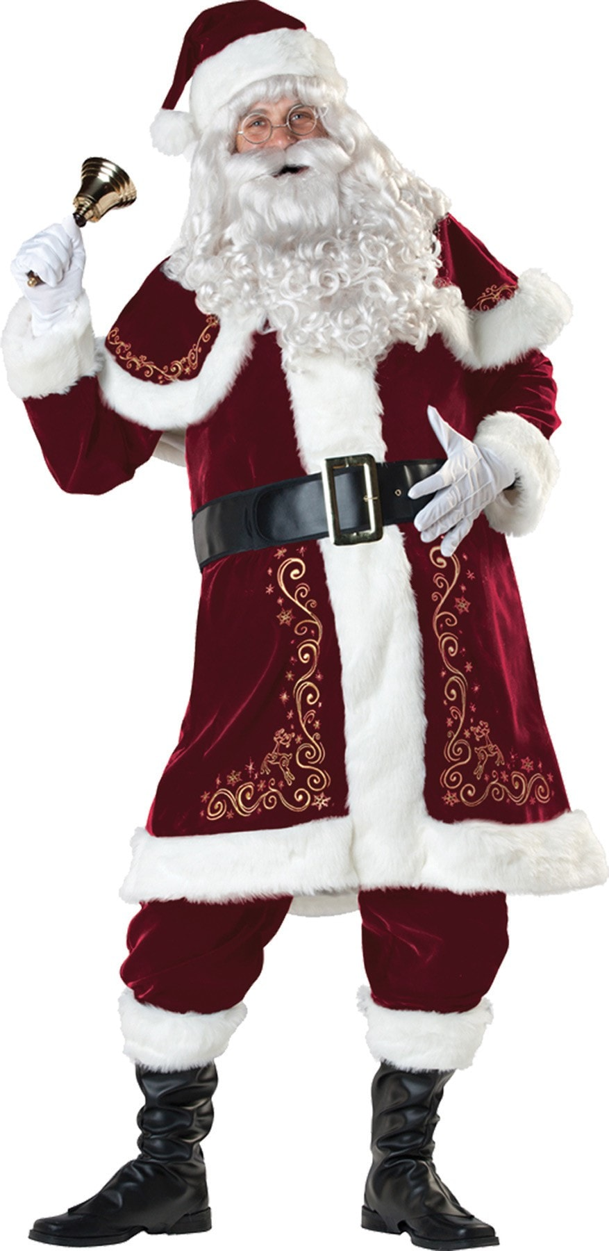 Morris Jolly Ol' St Nick Large 42-44 - MaxWigs