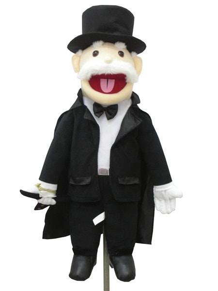 Morris Puppet Mind Read Magician 28in - MaxWigs
