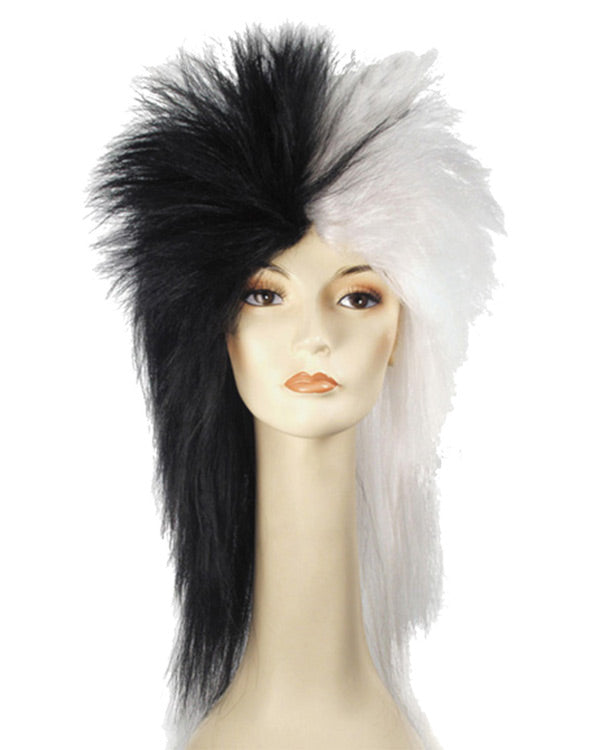 BEETLE JUICE WHITE MAD SCIENTIST PUNK STYLE LACEY WIG COSTUME ACCESSORY LW14WT