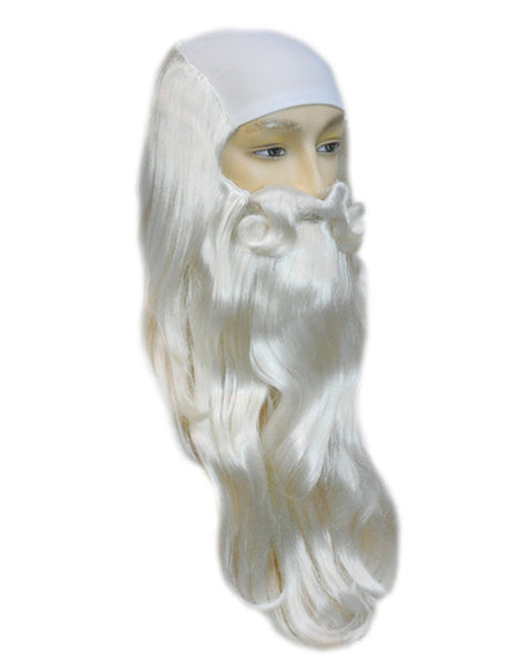Father Time Merlin Wig with Bald Cloth
