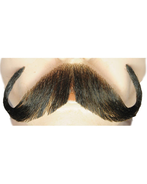 Handlebar Synthetic/Human Blend Handmade Mustache CLEARANCE