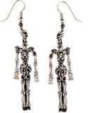 Morris Earrings Metal Skeleton - MaxWigs
