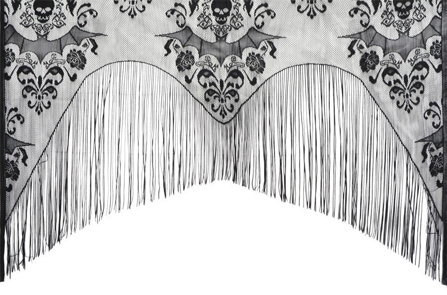 Morris Lace Decor Damask Curtain - MaxWigs