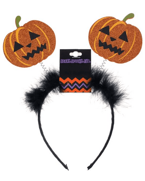Morris Headband Pumpkin Bopper - MaxWigs