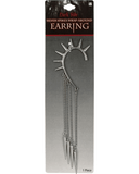 Morris Earring Wrap Spike Silver - MaxWigs