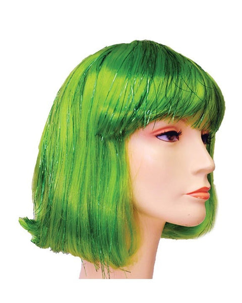 Lacey Costume Bargain Version China Doll Bob with Tinsel Wig - MaxWigs