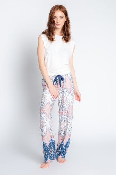 PJ Salvage - Boho Babe Floral Pant in Coral
