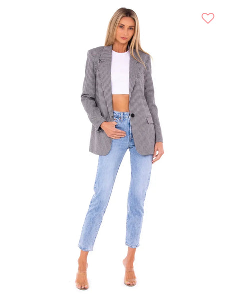 LUSH - Palms Jumper in Blush/Green