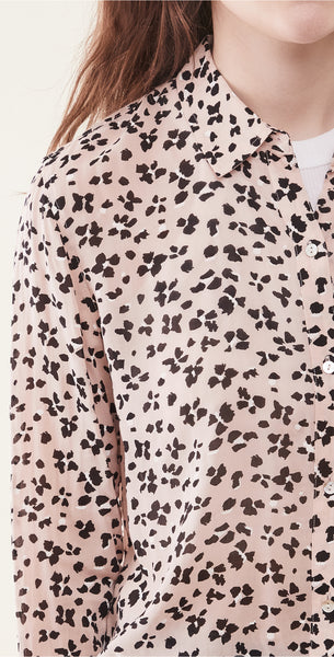 Rails - Anna Long Sleeve Button Down in Rose Cheetah