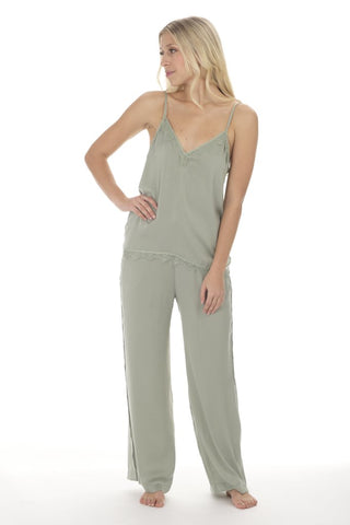 Paper Label - Vivian Satin Cami in Sage