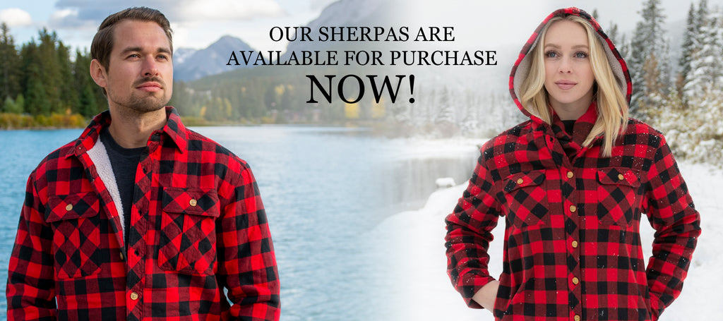 MENS SHERPA LINED FLANNEL