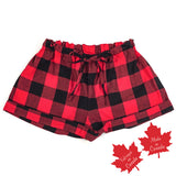 Shorts in Red Black Buffalo Check