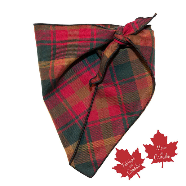 Pet Bandana / Maple Leaf Tartan