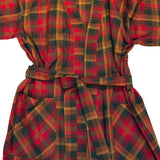 Kimono Flannel Robe in Maple Leaf Tartan