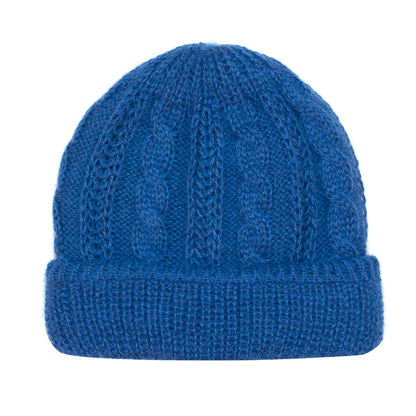 Blue Angora Toque