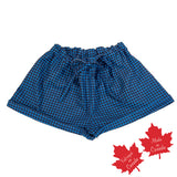 Shorts in Blue / Navy Houndstooth