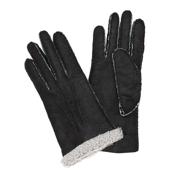 Ladies Sueded Lambskin Gloves Black