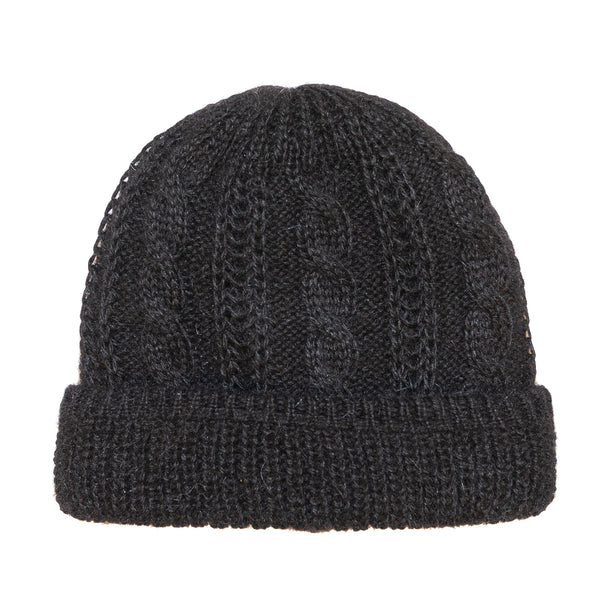 Black Angora Toque