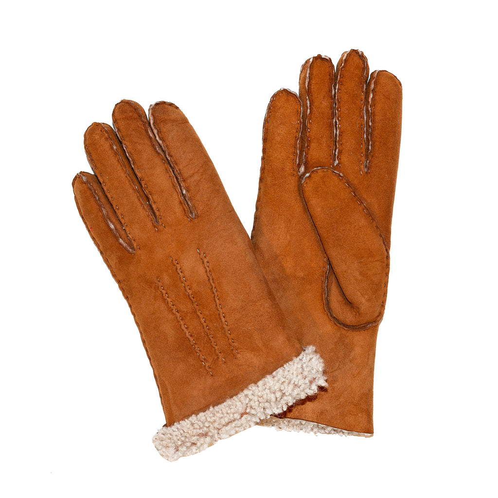 Ladies Sueded Lambskins Gloves Tan