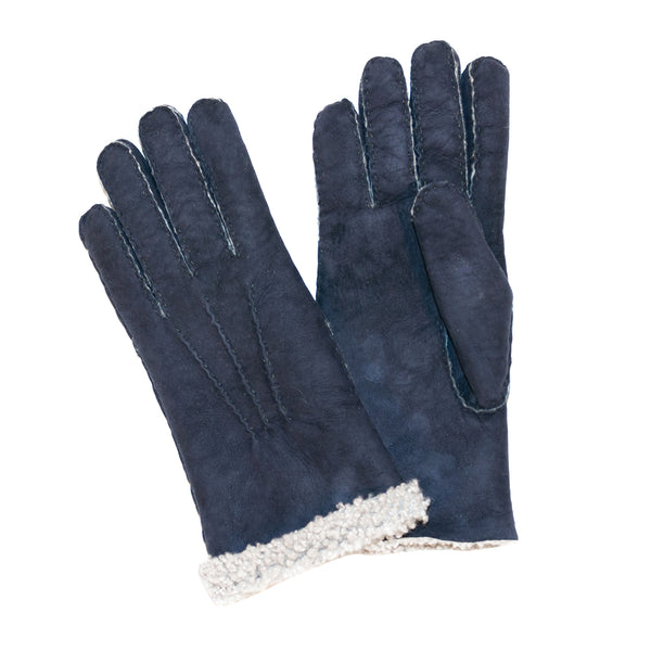 Woman's Sueded Lambskin Gloves Navy