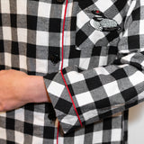 Classic Nightshirt in Large Black Check with Loon