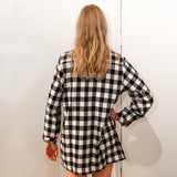 105 / Woman's Classic Flannel Nightshirt / Large Buffalo Check