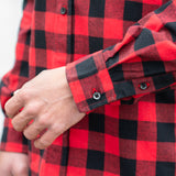 RMFC Men's Red Black Buffalo Check Shirt