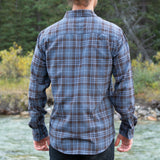 512 Blue Brown Plaid Men's Flannel Shirt