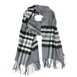 Wide Cut Scarf Mid Grey