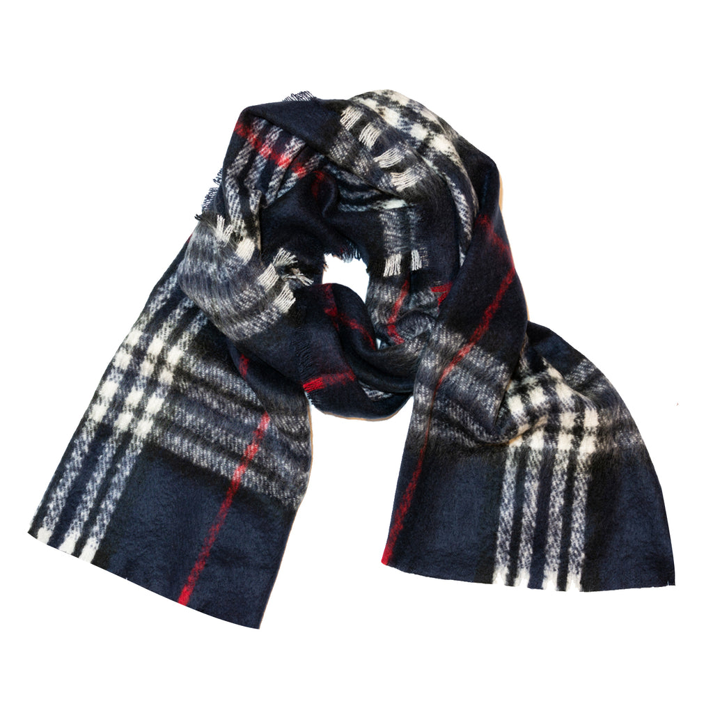 Navy Scarf (Mohair Feel)