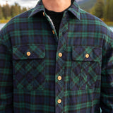Sherpa Lined Flannel Shirt Mens Blackwatch Plaid